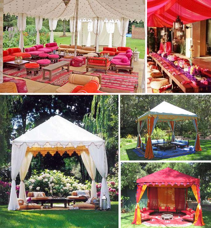 Tende marocchine per una festa all'aperto