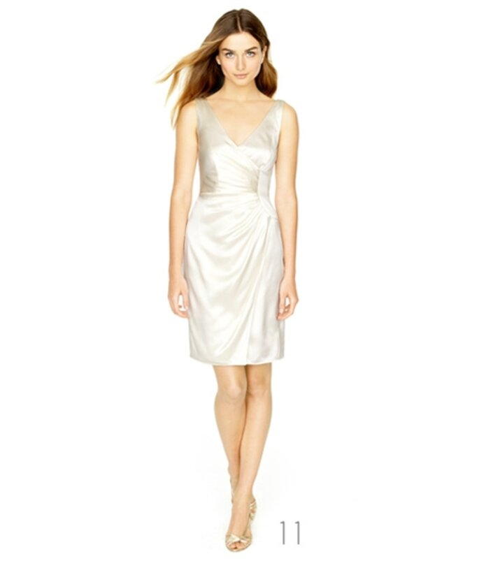 Vestido de novia a la rodilla de corte recto - Foto: JCrew Wedding Collection 2012