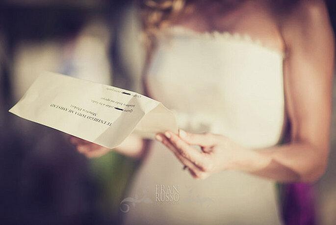 Bien préparé, pesé et mesuré, votre discours de mariage aura son succès ! - Photo : Fran Russo
