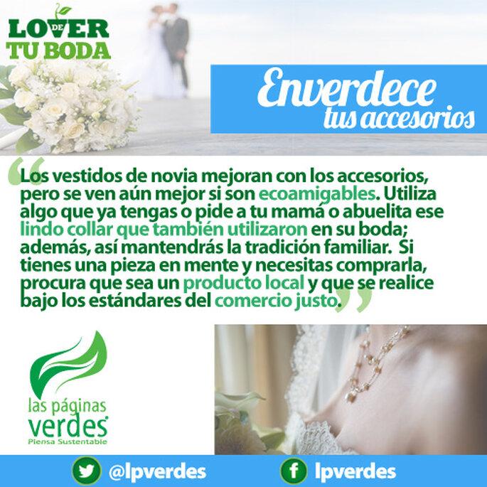 Accesorios ecológicos para tu look de novia - Foto Las Páginas Verdes