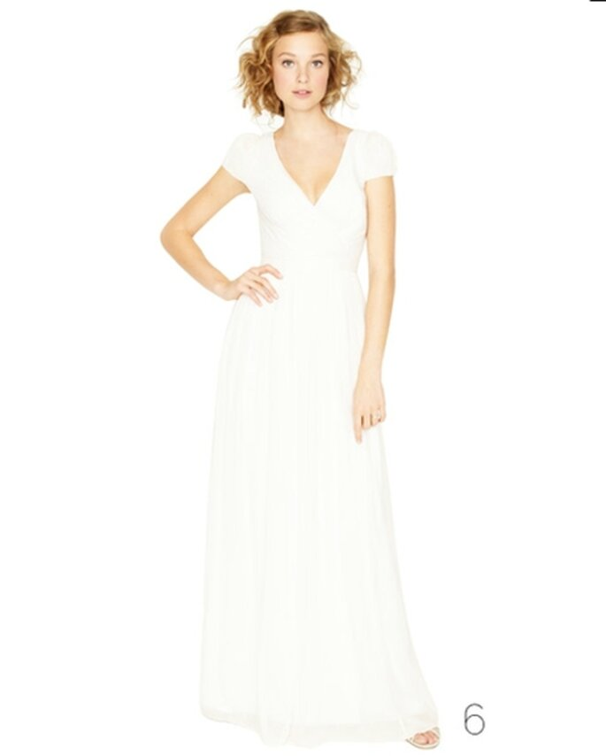 Vestido de novia de estilo sencillo - Foto: JCrew Wedding Collection 2012