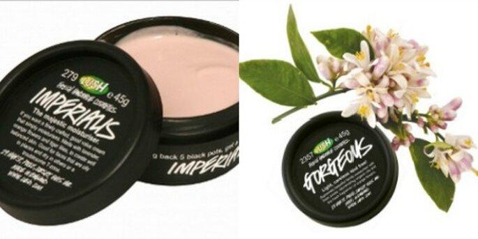 Creme viso Lush. Entrambi i prodotti sono vegani. Foto www.lush.it