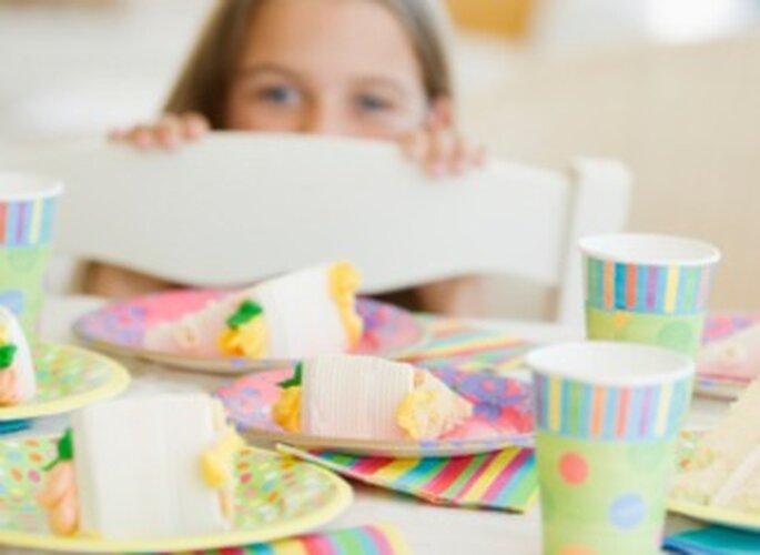 Décorer une table d'enfant pour son mariage