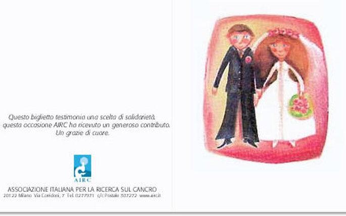 Biglietto commemorativo matrimonio