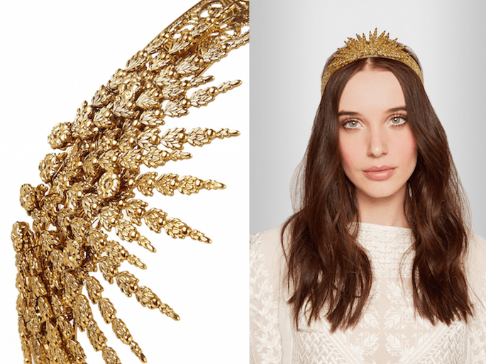 Accesorios en color dorado para una invitada fashionista - Jennifer Behr en Net a Porter
