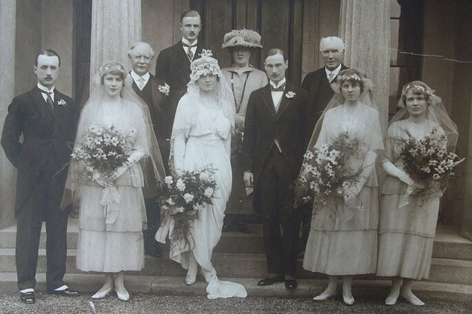 Boda en 1920. Foto: Teresa Stokes