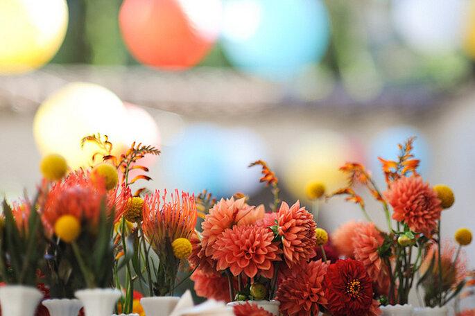 Flores rústicas, a puro color. Foto: Starmacmac