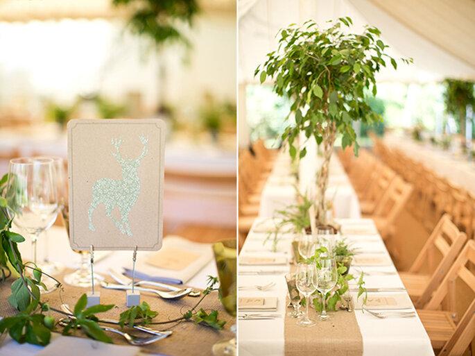 Decoraciones con papel para una boda DIY - Foto Caught the Light1