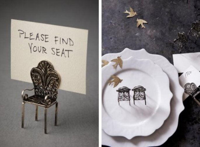 Ideas sencillas vintage para marcadores de mesa for Ideas para colgar medallas