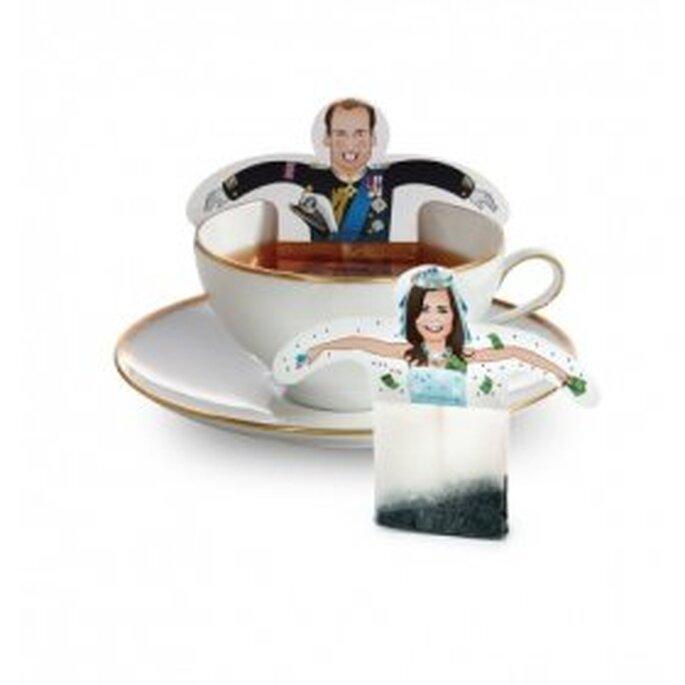 Bolsas de té con la pareja
