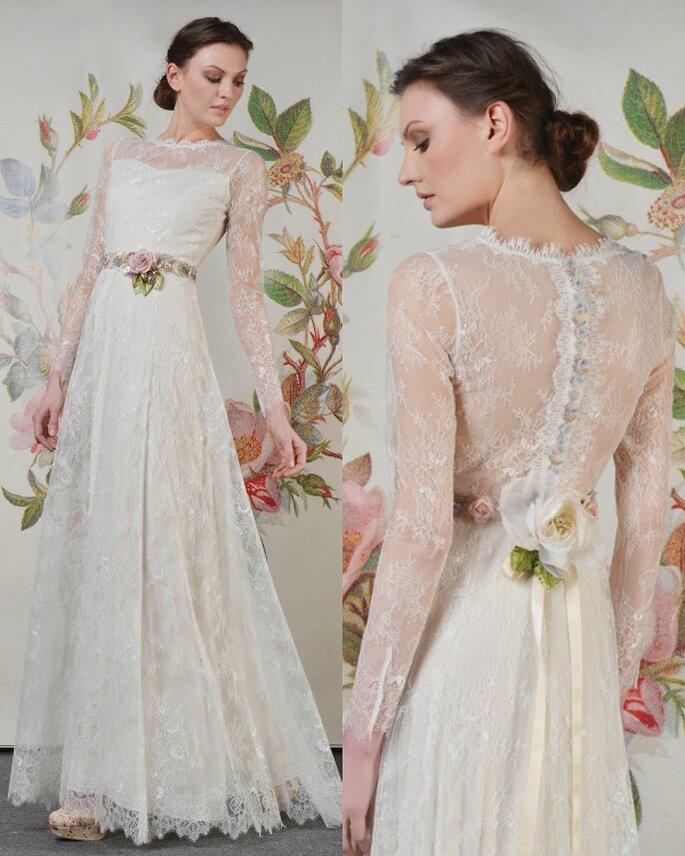 Vestido de novia Charlotte, de Claire Pettibone colección 2014. Foto: Claire Pettibone
