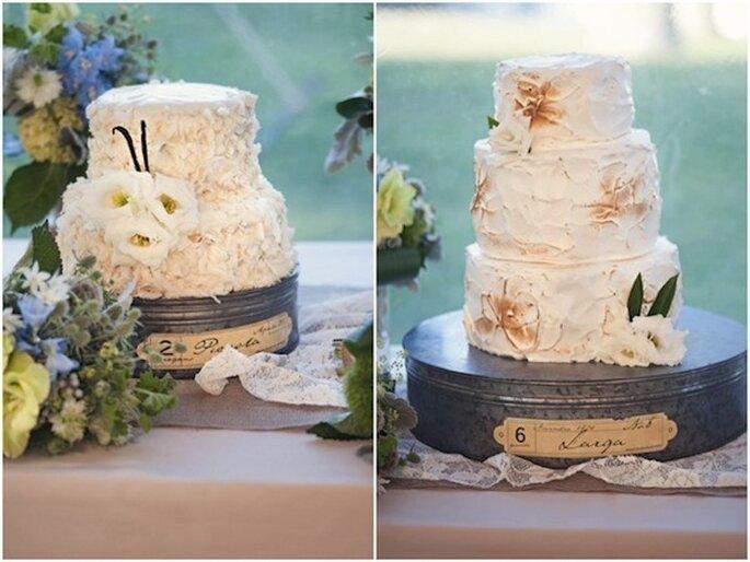 Los mejores pasteles de boda con estilo rústico - Foto Carla Ren Eyck Photography