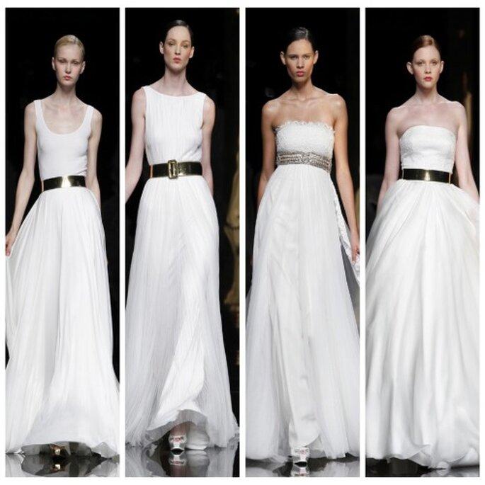 La ceinture dorée, une touche ultra glamour. Rosa Clara 2012