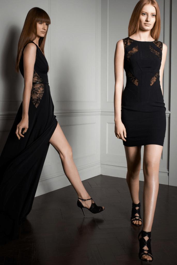 Vestidos de fiesta elegantes y con detalles de transparencias en color negro - Foto Elie Saab