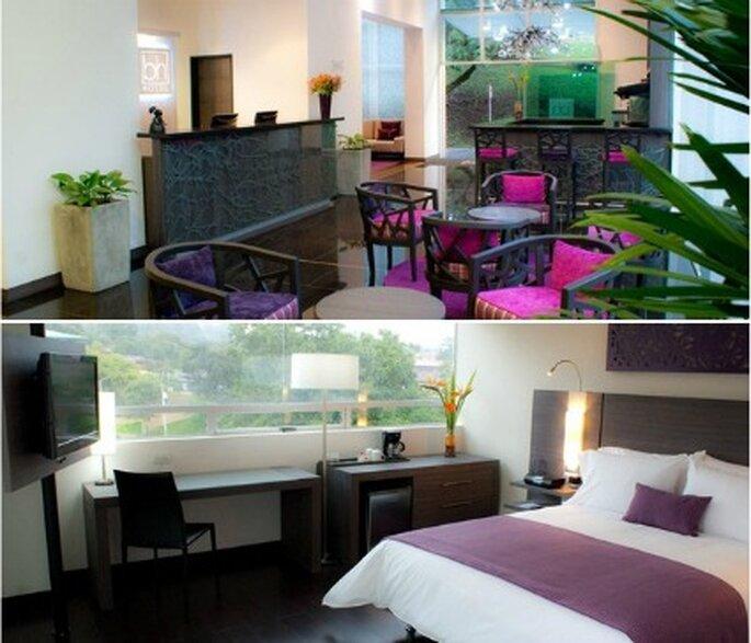 Areas comunes y habitación.      Foto: Hoteles BH El Poblado