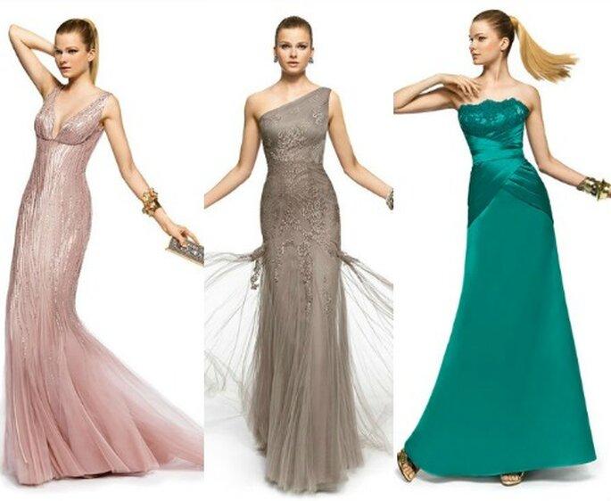 Toni naturali o accesi, l'abito lungo è sempre una scelta vincente ad una cerimonia di nozze! Pronovias Fiesta 2013. Foto www.pronovias.com