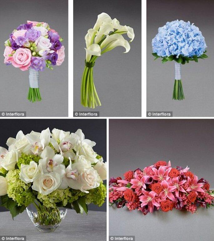 Colección de arreglos florales de Vera Wang - Foto Interflora