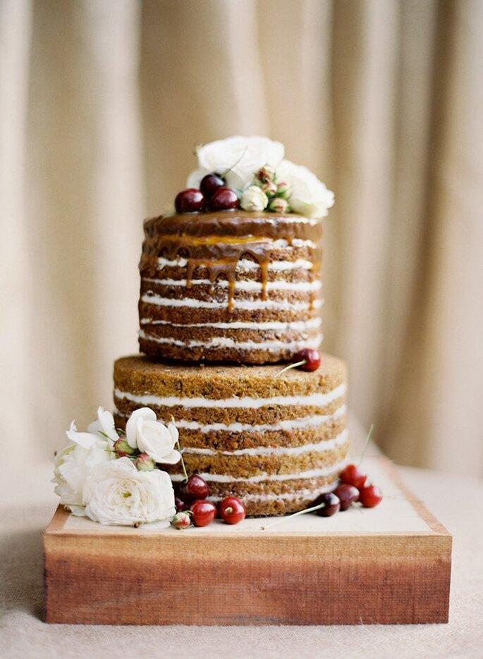Los mejores pasteles para boda con estilo rústico - Foto Jose Villa Photography