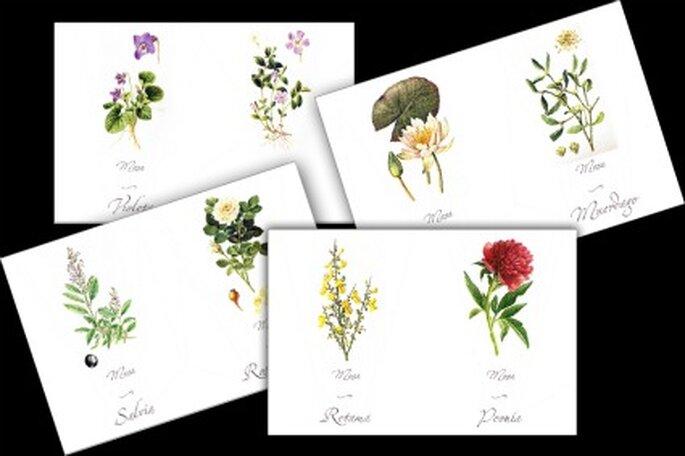 Dibujos para incluir en los meseros-Foto: la boda del año