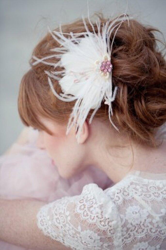 Haarschmuck für die Brautfrisur bei Lo Beheme – Foto: loboheme.com