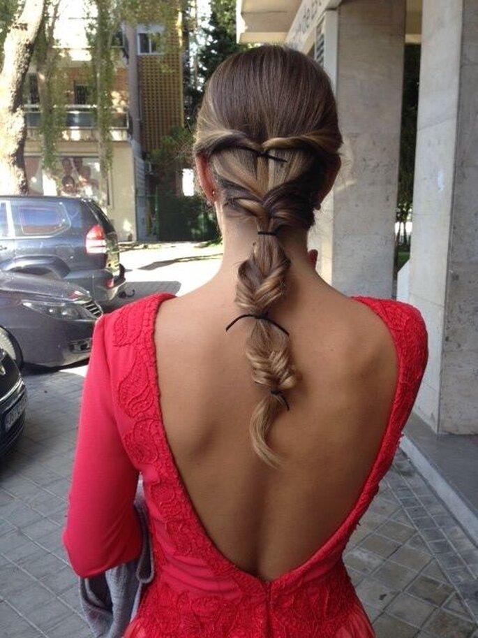 Trenza cordón. Foto: Marieta Hairstyle