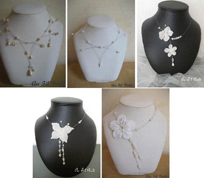 Colliers de mariée pour robes à bustier forme coeur