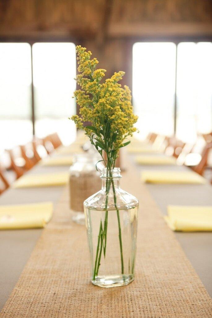 Centros de mesa para una boda minimalista - Foto Harper Point Photography
