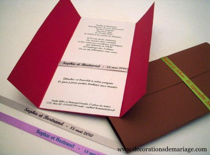 Les rubans personnalisés de Décorations de mariage