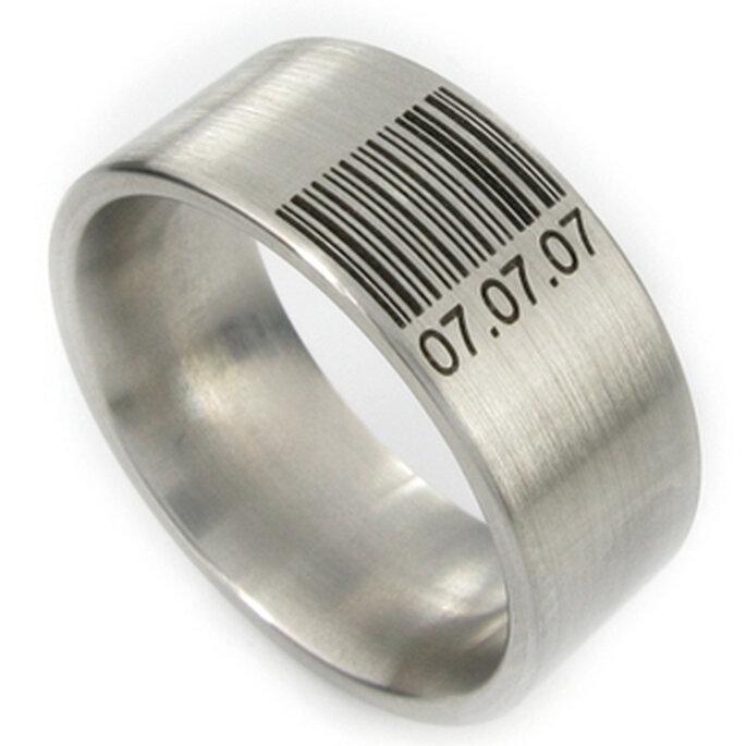 Wie wäre es mit Eurem Hochzeitstag in Barcode-Form?