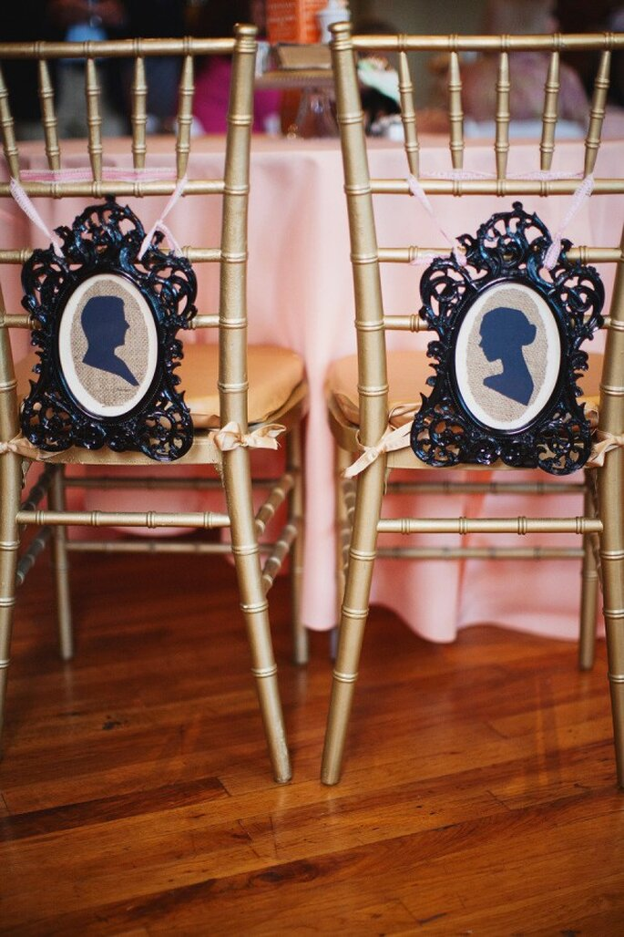 Decoración de boda con siluetas - Foto Love is a Big Deal