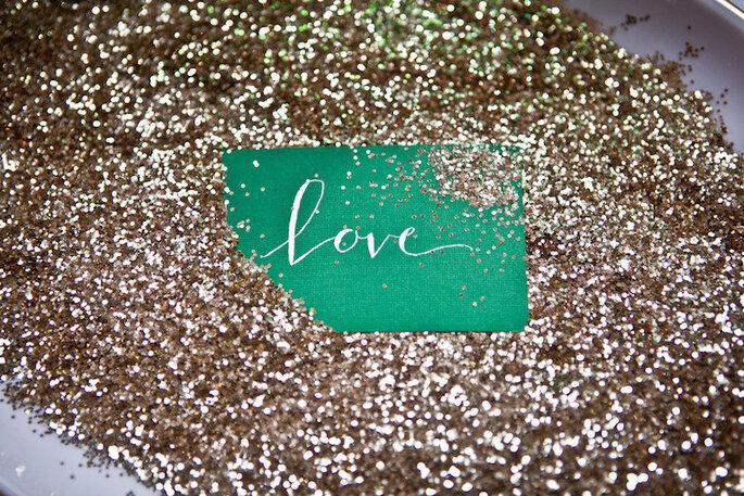 Color esmeralda para la decoración de boda - Katie Cassidy Photography