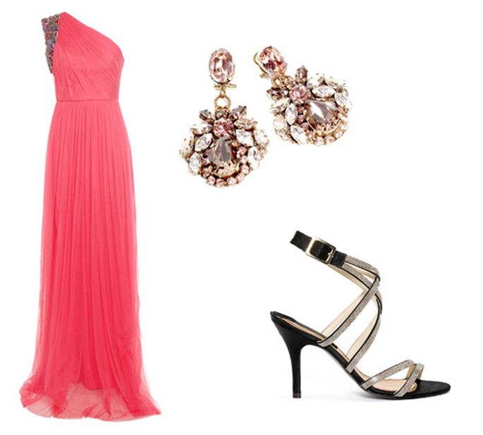 Foto: vestido rosa de Jorge Vázquez; sandalias Aurora Borealis; pendientes Antón Heunis