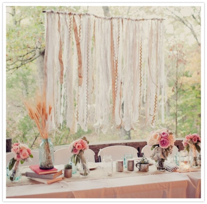 Ribbon Wedding Altar: Streamer Wedding Decorations! A Fun & Colorful DIY Idea
