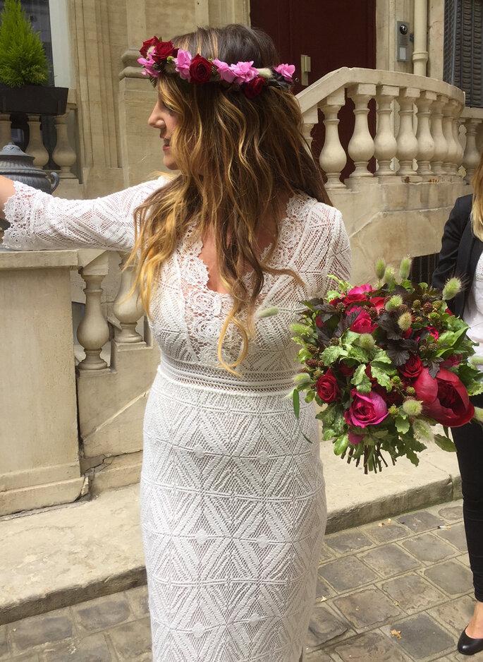 Couronne de fleurs - Organisation mariage Paris