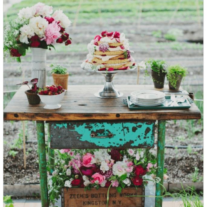 Los mejores pasteles de boda con estilo rústico - Foto Les Loups