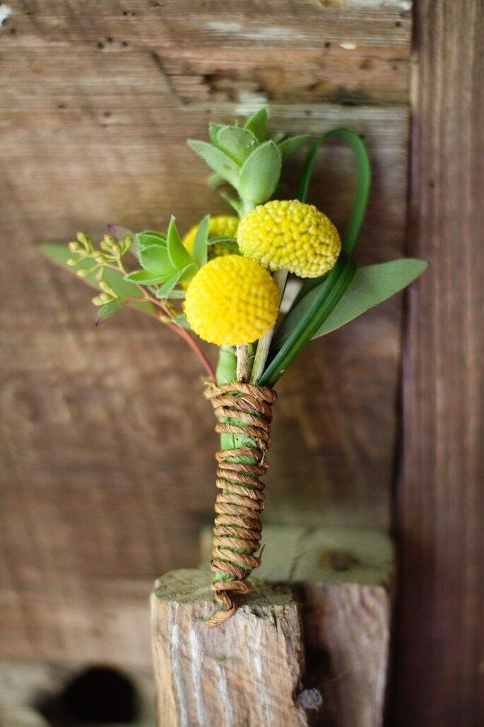 Un ramo de novia sensacional para tu boda ecofriendly - Foto Simple Color