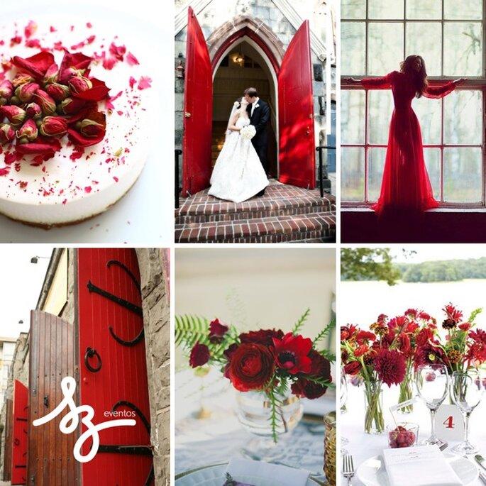 Rojo en contraste, una inspiración perecta para tu boda - Foto Three Blondes and a Camera, Jason Frank Rothenberg