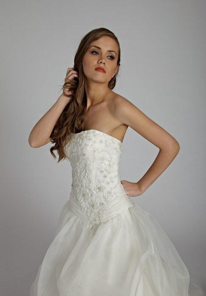 Brautkleid in A-Linie von Lisa Donetti
