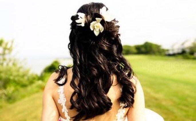 Extensiones largas y onduladas para novias
