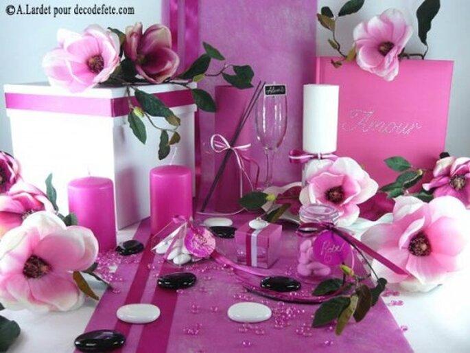 Décoration de mariage, on mise sur des centres de table originaux et personnalisés - Photo : decodefete.com