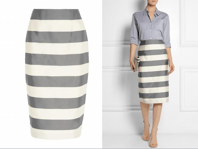 Midi skirt para invitadas de boda - Burberry London en Net a Porter