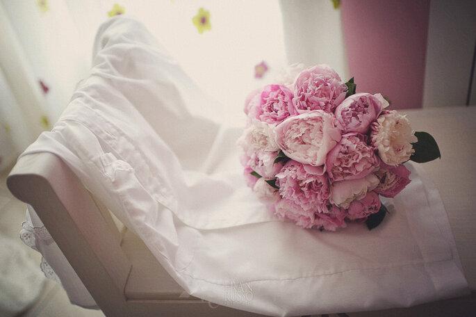 Ramo de novia color rosa. Foto: Fran Russo