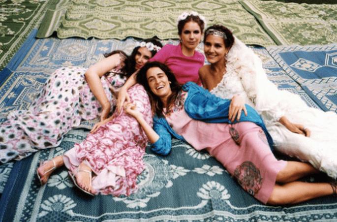 Modeerbin Margheritta Missoni machte Altrosa zur Hochzeitsfarbe – Foto: Missoni