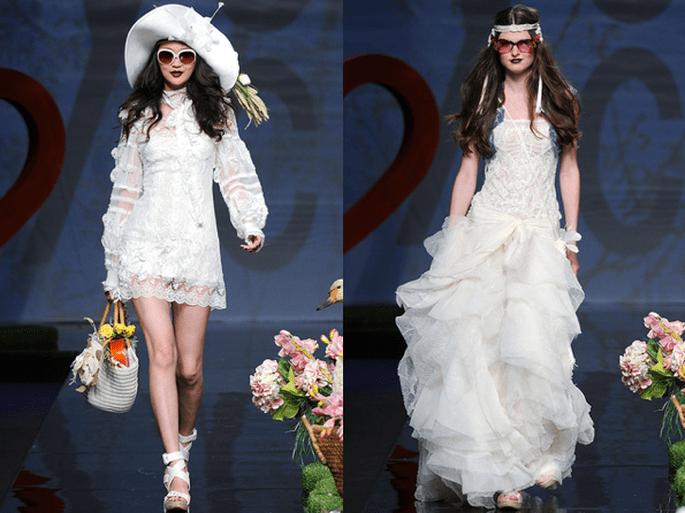 Colección vestidos de novia Yolan Cris 2012