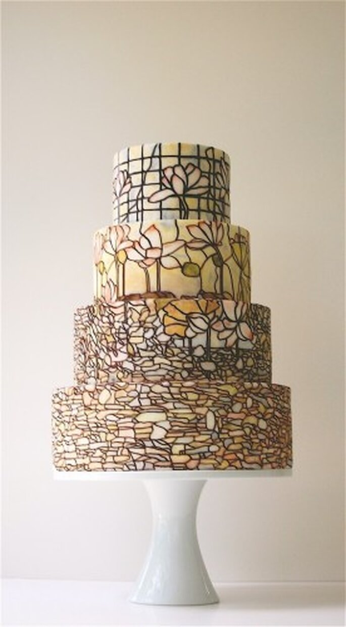 Stained glass cake by Magpie's Cake