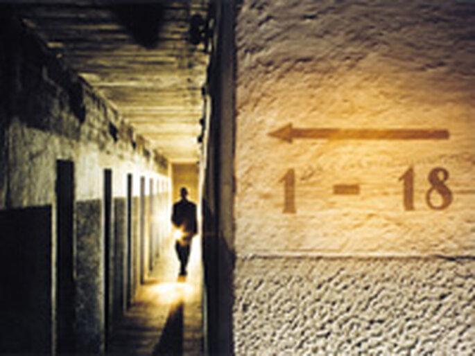 Vista de uno de los túneles subterráneos del recorrido