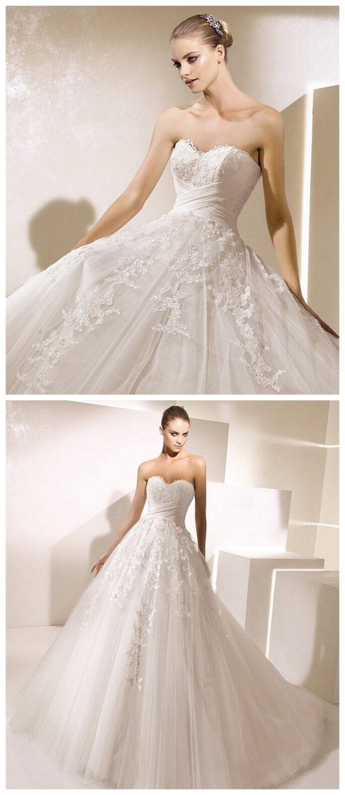 Vestido de novia corte de gala. La Sposa