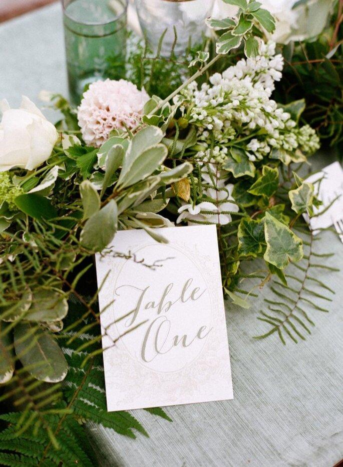 Indicadores de mesa súper originales para tu boda - Foto Amanda Wilcher Photography