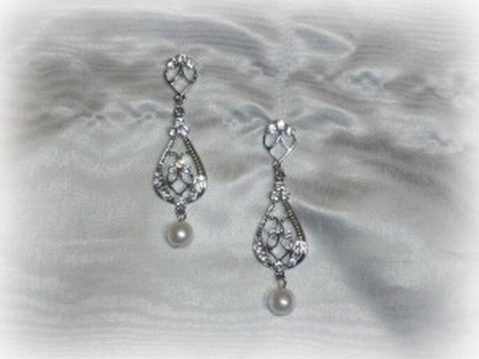 Pendientes en forma de gota colgantes con terminación de perla