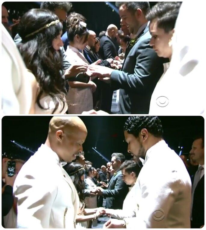 Wedding performance durante Same Love ai Grammys
